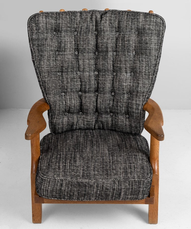 French Armchairs by Guillerme & Chambron, France, circa 1950 For Sale