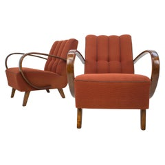 Armchairs by Jindrich Halabala, 1940s, Set of Two