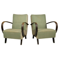 Armchairs by Jindrich Halabala, 1950s, Set of Two