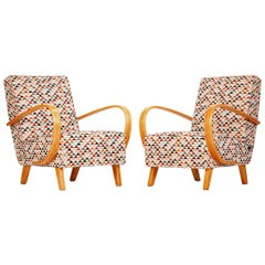 Armchairs by Jindrich Halabala for Spojene UP zavody 1940s, Set of 2