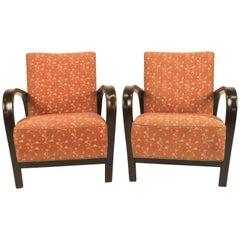 Armchairs by Kozelka a Kropacek, Set of Two, 1940s