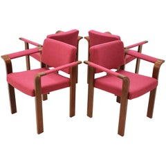 Armchairs by Rud Thygesen & Johnny Sørensen for Magnus Olesen, 1970s, Set of 4