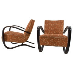 Armchairs H 269 by Jindrich Halabala, Set of Two, 1930s