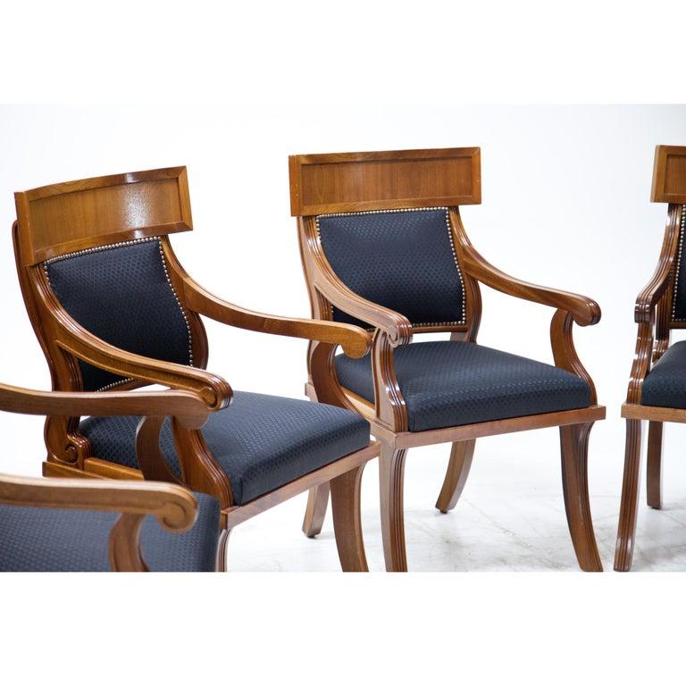 European Armchairs in Biedermeier Style, 20th Century For Sale