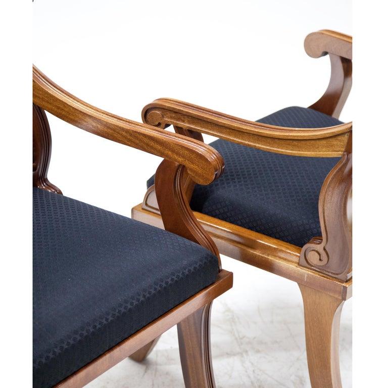 Armchairs in Biedermeier Style, 20th Century For Sale 1