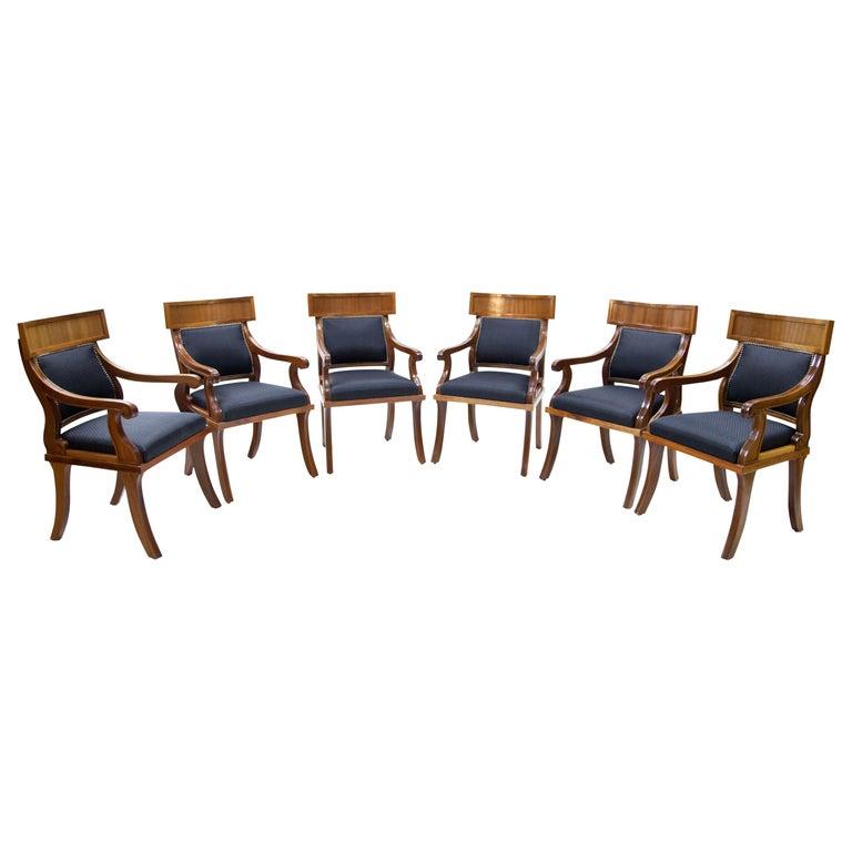 Armchairs in Biedermeier Style, 20th Century For Sale