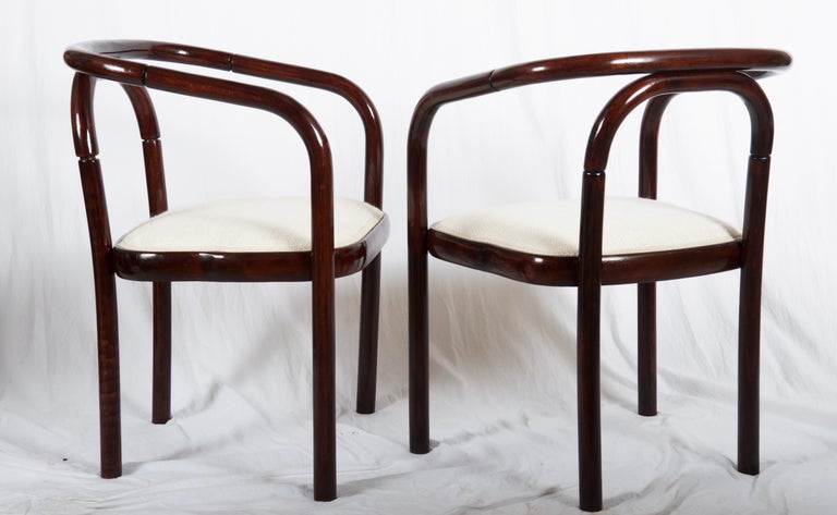 Minimalist Armchairs in the Style of Poul Henningsen For Sale