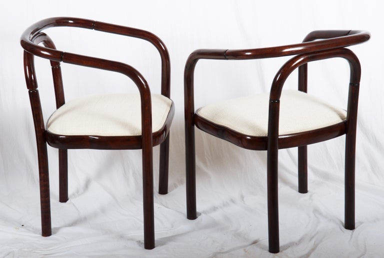 Czech Armchairs in the Style of Poul Henningsen For Sale