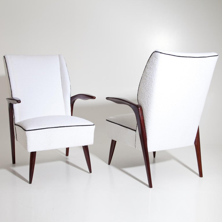 Italian Armchairs, Italy Mid-20th Century For Sale