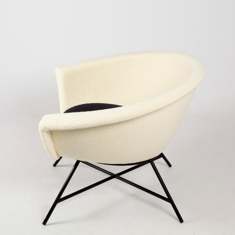 Armchairs Model 58 Genevieve Dangles & Christian Defrance for Burov, 1950s For Sale 3