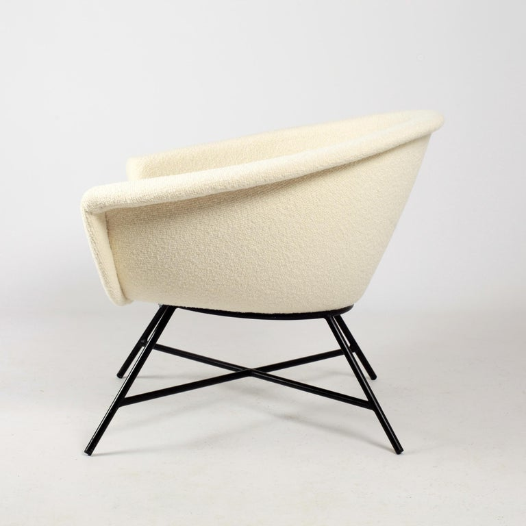 Armchairs Model 58 Genevieve Dangles & Christian Defrance for Burov, 1950s For Sale 4
