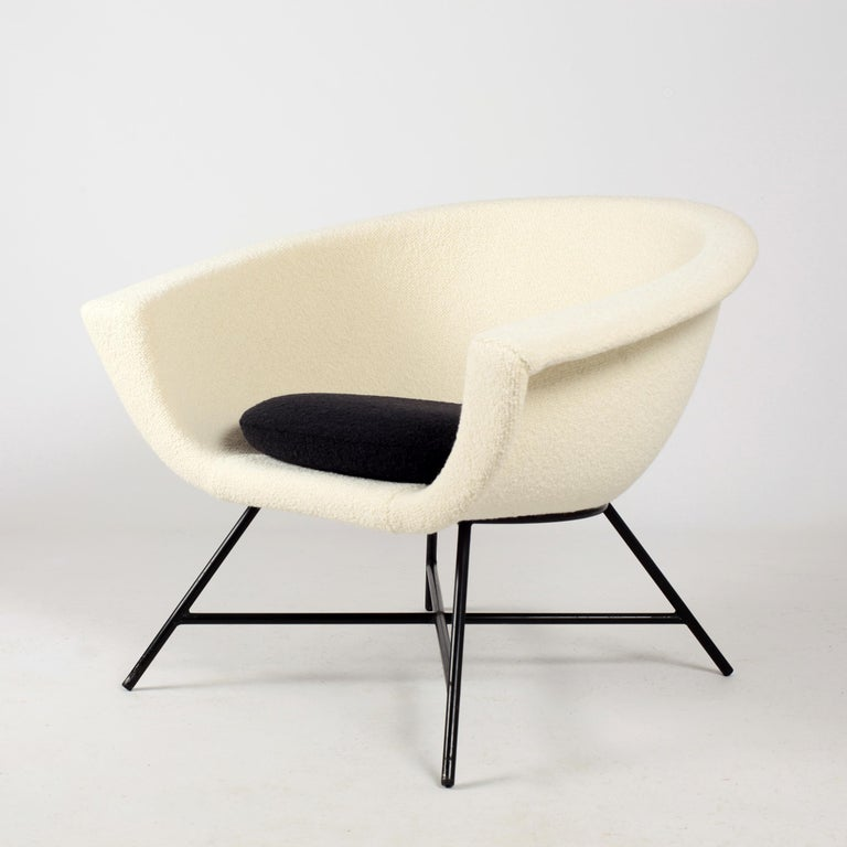 Armchairs Model 58 Genevieve Dangles & Christian Defrance for Burov, 1950s For Sale 5