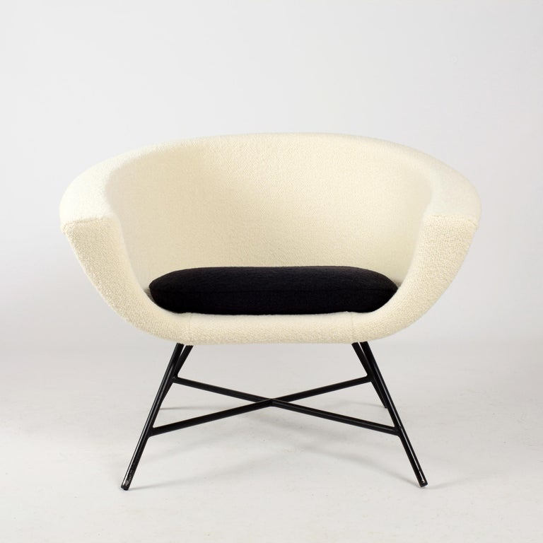 Armchairs Model 58 Genevieve Dangles & Christian Defrance for Burov, 1950s For Sale 6