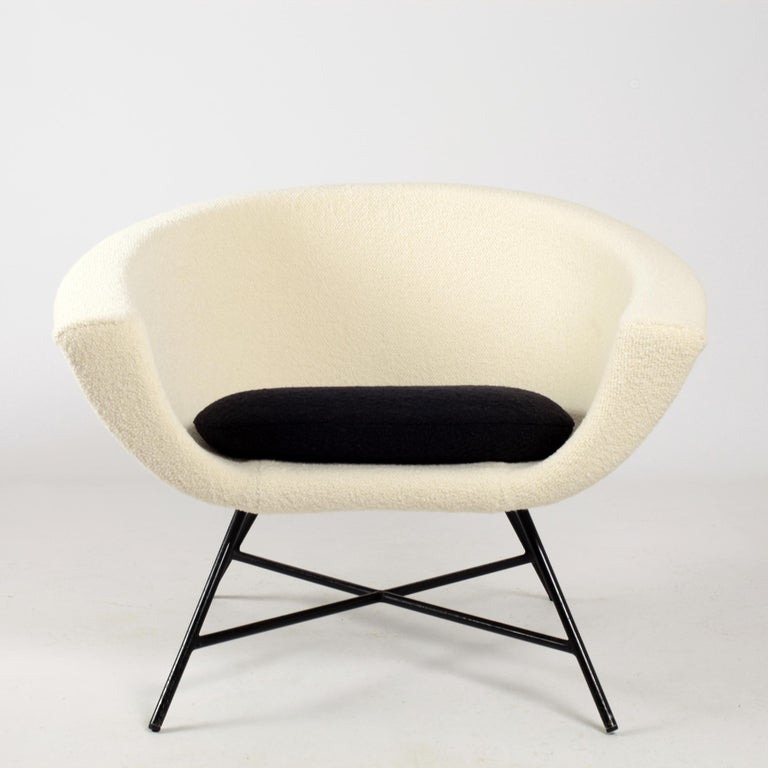 Mid-Century Modern Armchairs Model 58 Genevieve Dangles & Christian Defrance for Burov, 1950s For Sale