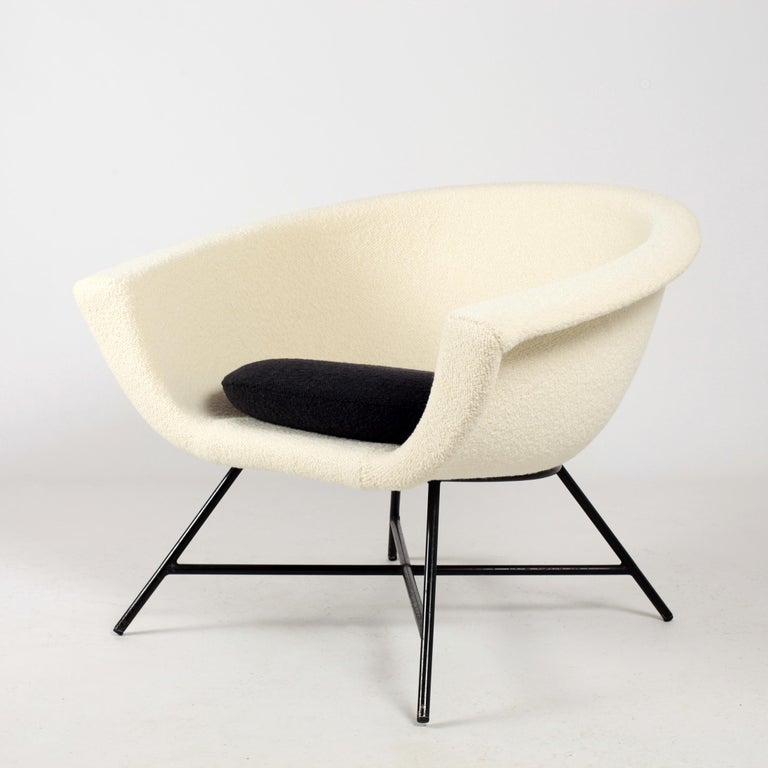 Armchairs Model 58 Genevieve Dangles & Christian Defrance for Burov, 1950s In Good Condition For Sale In Versailles, FR