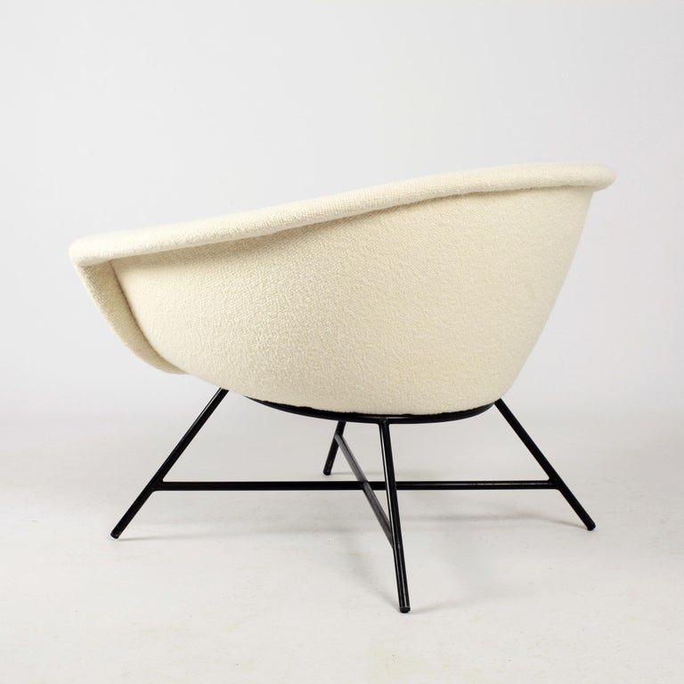 Mid-20th Century Armchairs Model 58 Genevieve Dangles & Christian Defrance for Burov, 1950s For Sale