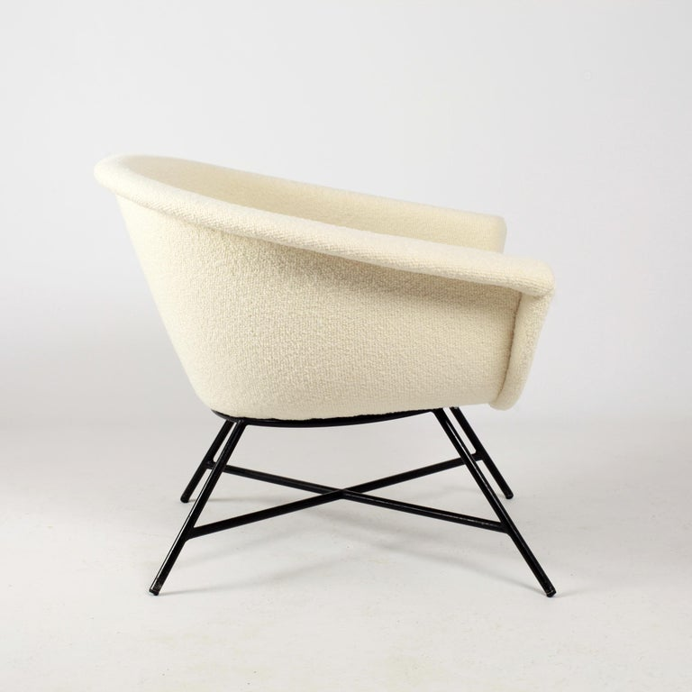 Armchairs Model 58 Genevieve Dangles & Christian Defrance for Burov, 1950s For Sale 1