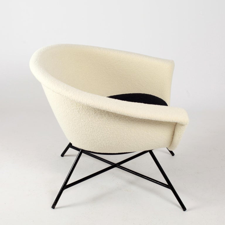 Armchairs Model 58 Genevieve Dangles & Christian Defrance for Burov, 1950s For Sale 2