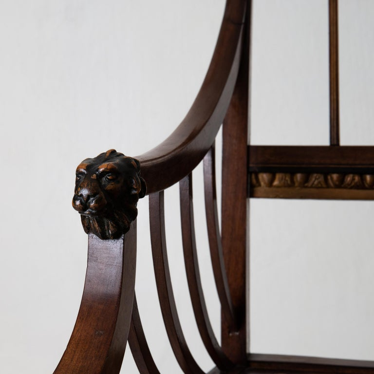 Armchairs Pair of Swedish Neoclassical Mahogany, Early 19th Century, Sweden In Good Condition For Sale In New York, NY