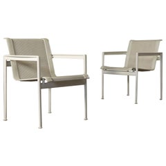Armchairs Richard Schultz Metal, Leather and Polyester 1980s B&B