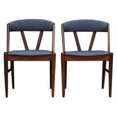 Armchairs Teak Gray Retro Danish Design Vintage, 1960s