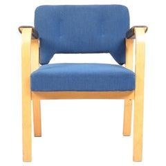 Armchairs with Fabric and Patinated Leather Bymaija Heikinheimo, 1950s
