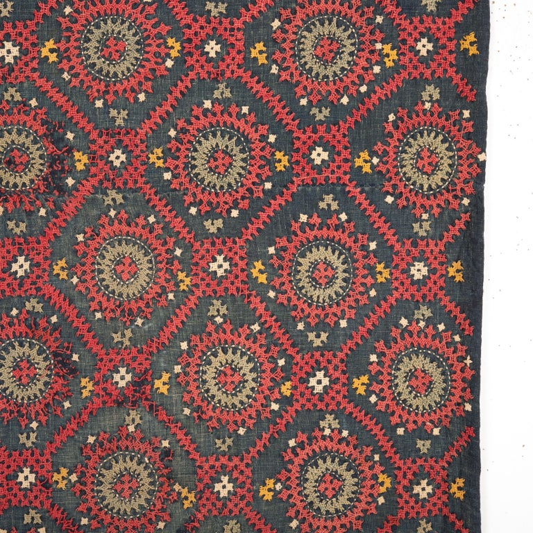 Turkish Armenian Marash Embroidery Fragment, Late 19th-Early 20th Century For Sale