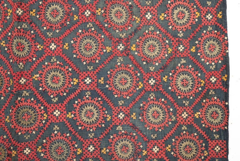 Armenian Marash Embroidery Fragment, Late 19th-Early 20th Century In Fair Condition For Sale In Istanbul, TR