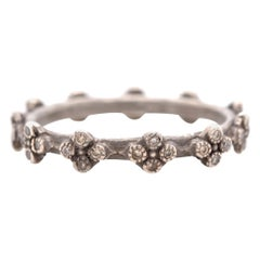 Armenta Sterling Silver Champagne Diamond Band