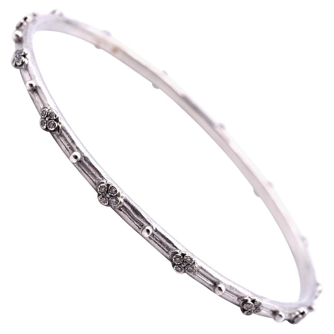 Armenta Sterling Silver Diamond Bangle Bracelet
