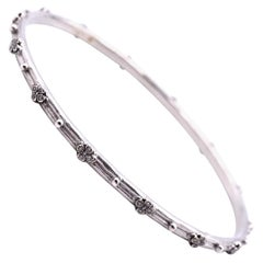 Armenta Sterling Silver Diamond Bangle Bracelet