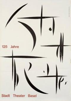 """125 Jahre Stadt Theater Basel"" International Typographic Graphic Design Poster"