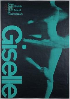 Giselle –Original Vintage Event Poster –Swiss Avantgarde