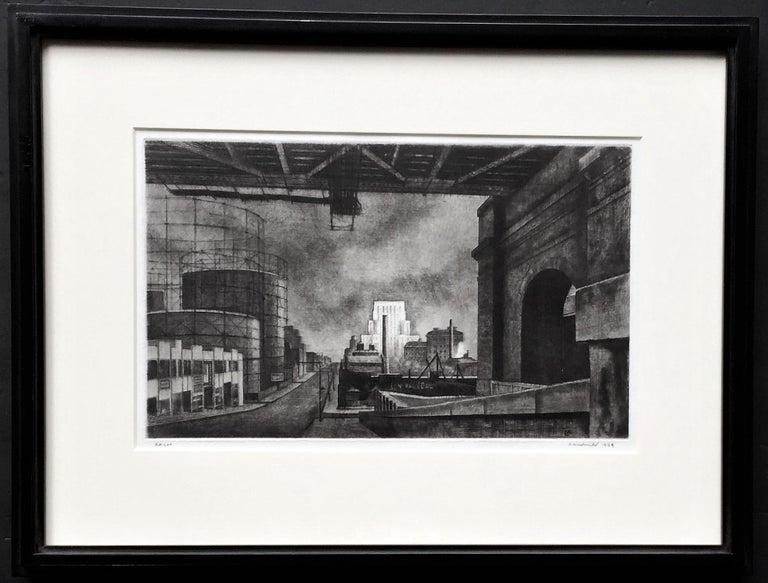 Armin Landeck Landscape Print - York Avenue, Sunday Morning.