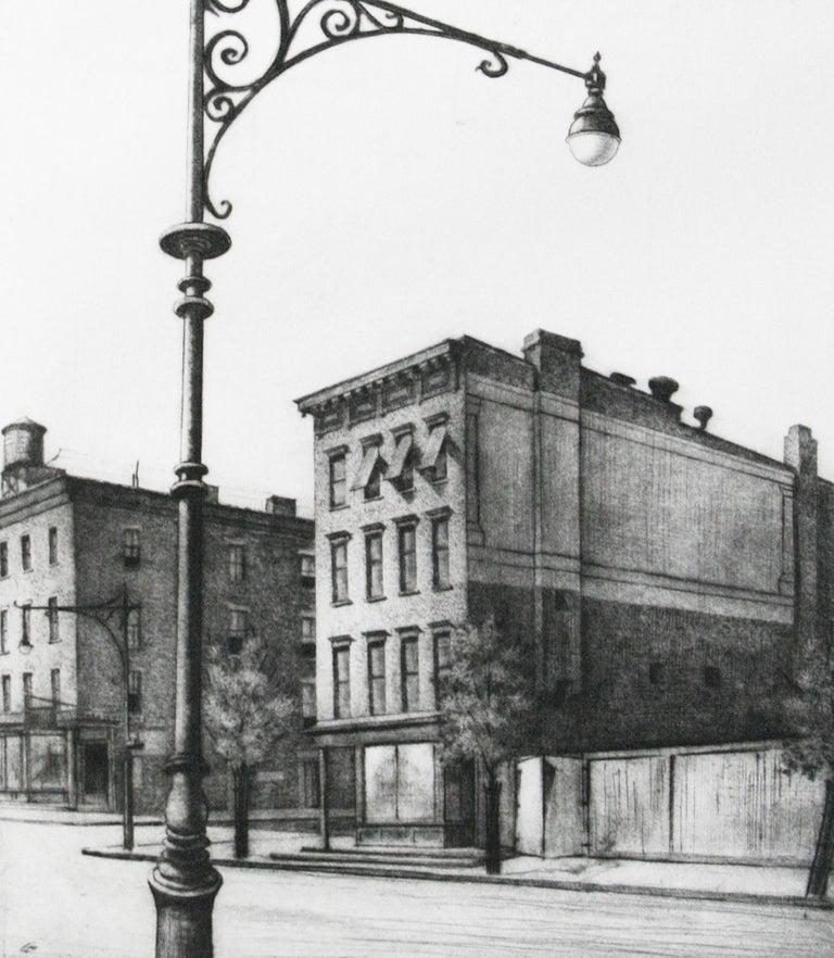 York Avenue Tenements.  - Print by Armin Landeck