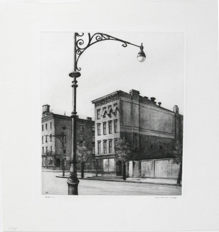 York Avenue Tenements.  - American Modern Print by Armin Landeck