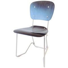Armin Wirth Aluflex Folding Chairs for Zieringer, Stackable, Swiss, Midcentury
