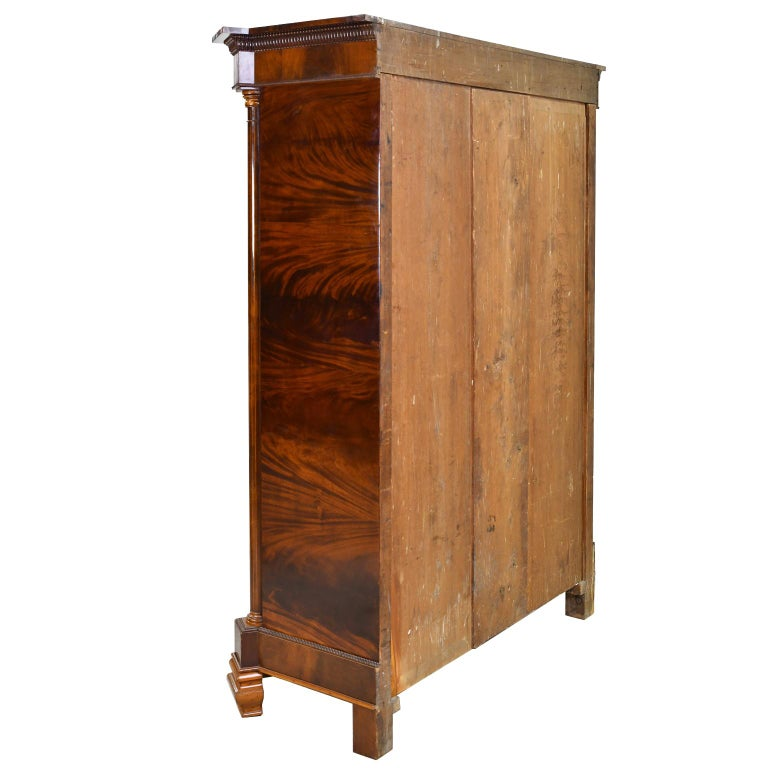 Early 19th Century Armoire in West Indies Mahogany, Northern Europe, circa 1825 For Sale