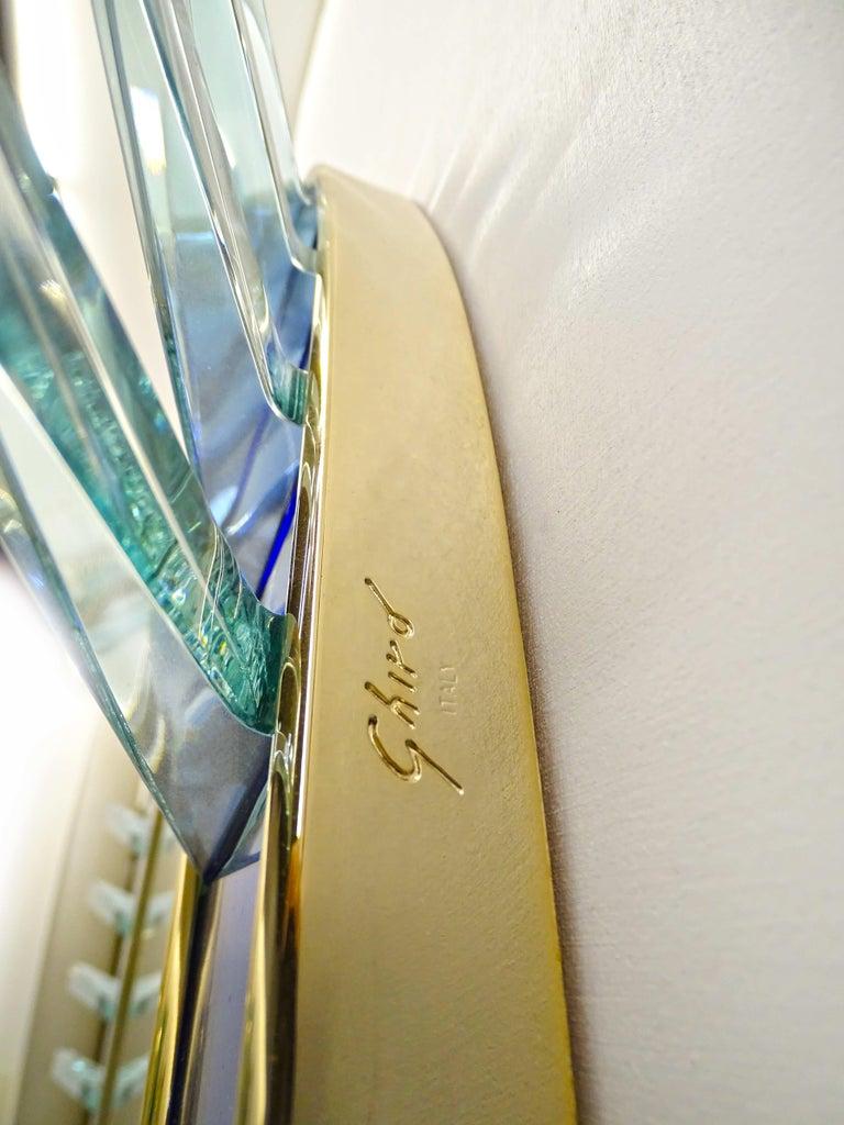 Plated Armonya Mirror by Ghirò Studio for Fabio Ltd For Sale