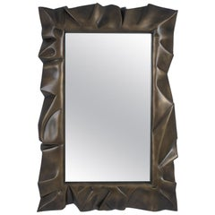 Armor Bronzage Mirror in Solid Mahogany Wood