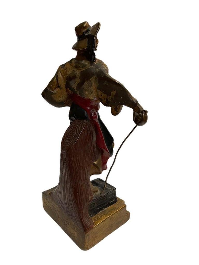 Artv Deco Era Buccaneer Bookends by Armor Bronze In Excellent Condition For Sale In Van Nuys, CA