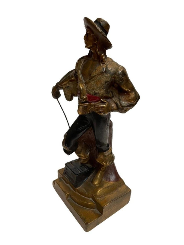 Artv Deco Era Buccaneer Bookends by Armor Bronze For Sale 2