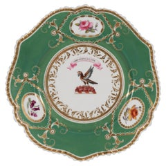 "Armorial Dish Motto ""By industry and Hope"" above an Eagle circa 1825"