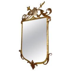 Armorial Gilt Metal Mirror