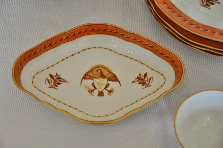 Armorial Service of Samson Chinese Export Porcelain for the American Market For Sale 4