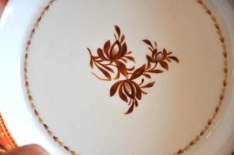 French Armorial Service of Samson Chinese Export Porcelain for the American Market For Sale