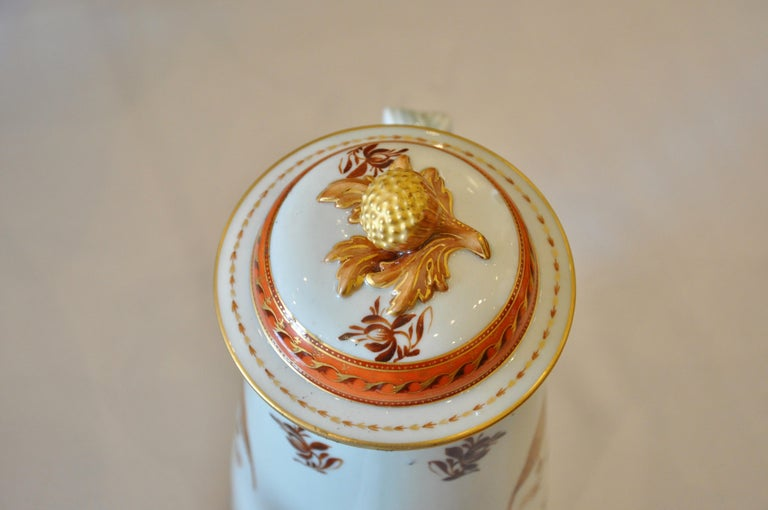 19th Century Armorial Service of Samson Chinese Export Porcelain for the American Market For Sale