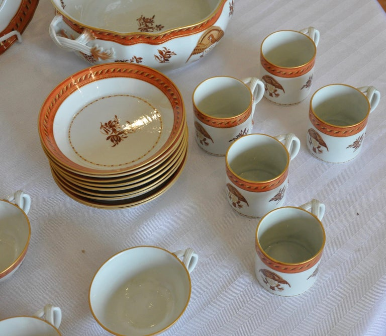 Armorial Service of Samson Chinese Export Porcelain for the American Market For Sale 2