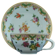 Armorial Tea Cup and Saucer from the Ludlow Service, Bristol, circa 1777
