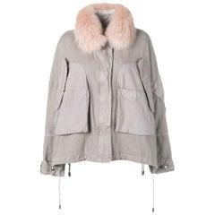 Army by Yves Salomon Oversized Short Parka Jacket